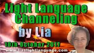 Light Language Transmission by Lia Livani 10th October 2017
