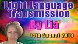 Light Language Transmission by Lia Livani 14th August 2018