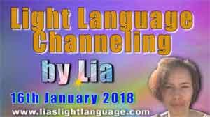 Light Language Transmission by Lia Livani 16th January 2018