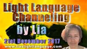 Light Language Transmission by Lia Livani 21st November 2017