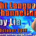 Light Language Transmission by Lia Livani 24th October 2017