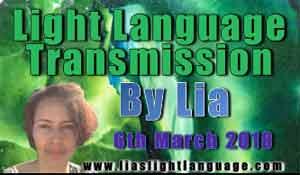 Light Language Transmission by Lia Livani 6th March 2018