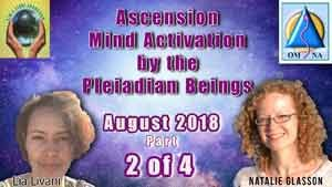 Part 2 of 4 Activations brought forth from the Pleiadian Beings channeled simultaneously by Natalie and Lia on the 28th August 2018
