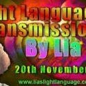 Channeled Light Language of Divine Love Through Lia 20th November 2018