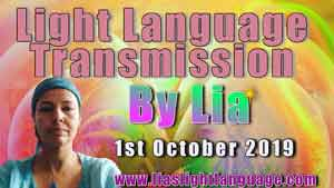 Lia Livani Light Language Transmission 1st October 2019