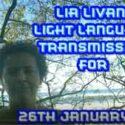 Lia Livani Light Language Transmission for 26th January 2021